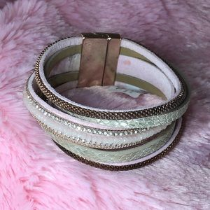 Torrid Blush Rose Gold Magnetic Cuff Bracelet NEW